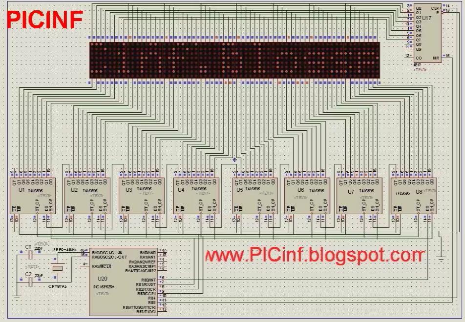 scrolling text on a led matrix - C Board