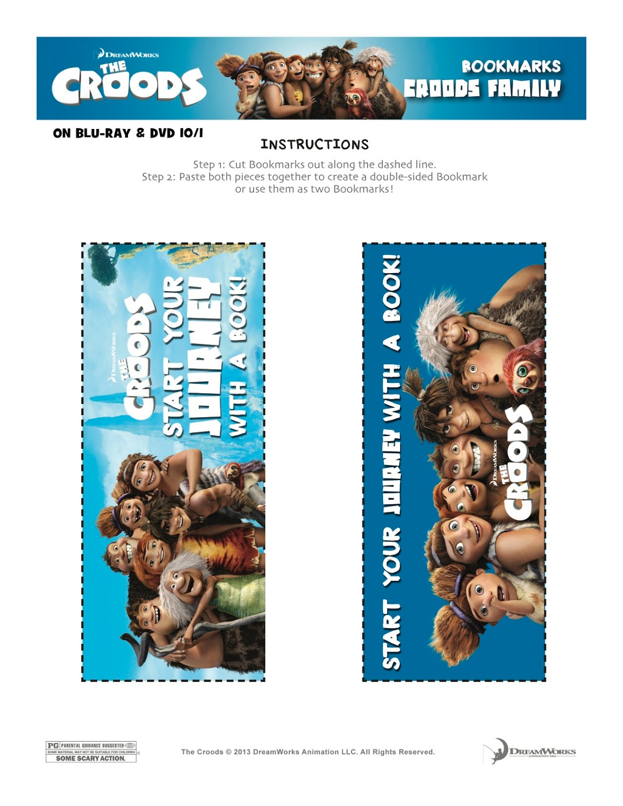 The Croods Printable