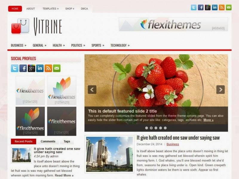 Vitrine - Free Wordpress Theme