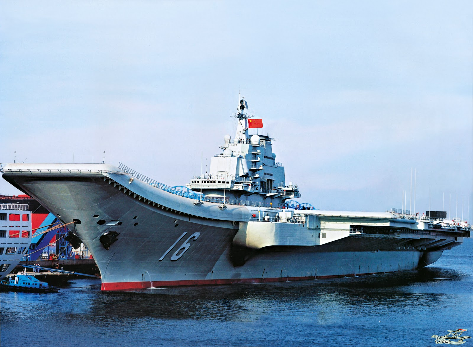 HQ Image of Chinese Aircraft Carrier Liaoning CV16 ...