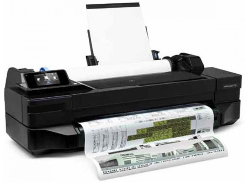 Contoh HP Designjet CQ891A - T120 24 inc