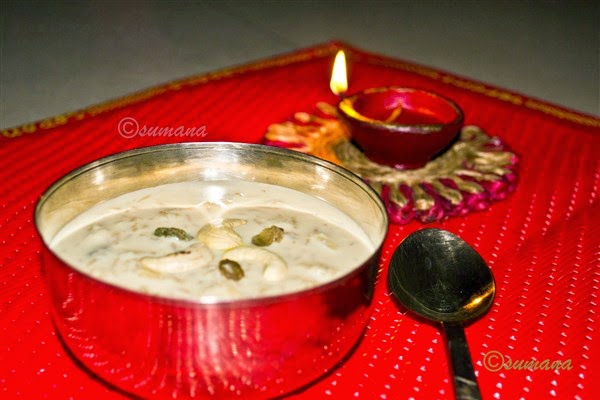 Recipe of Rice kheer prepared with dates palm jaggery