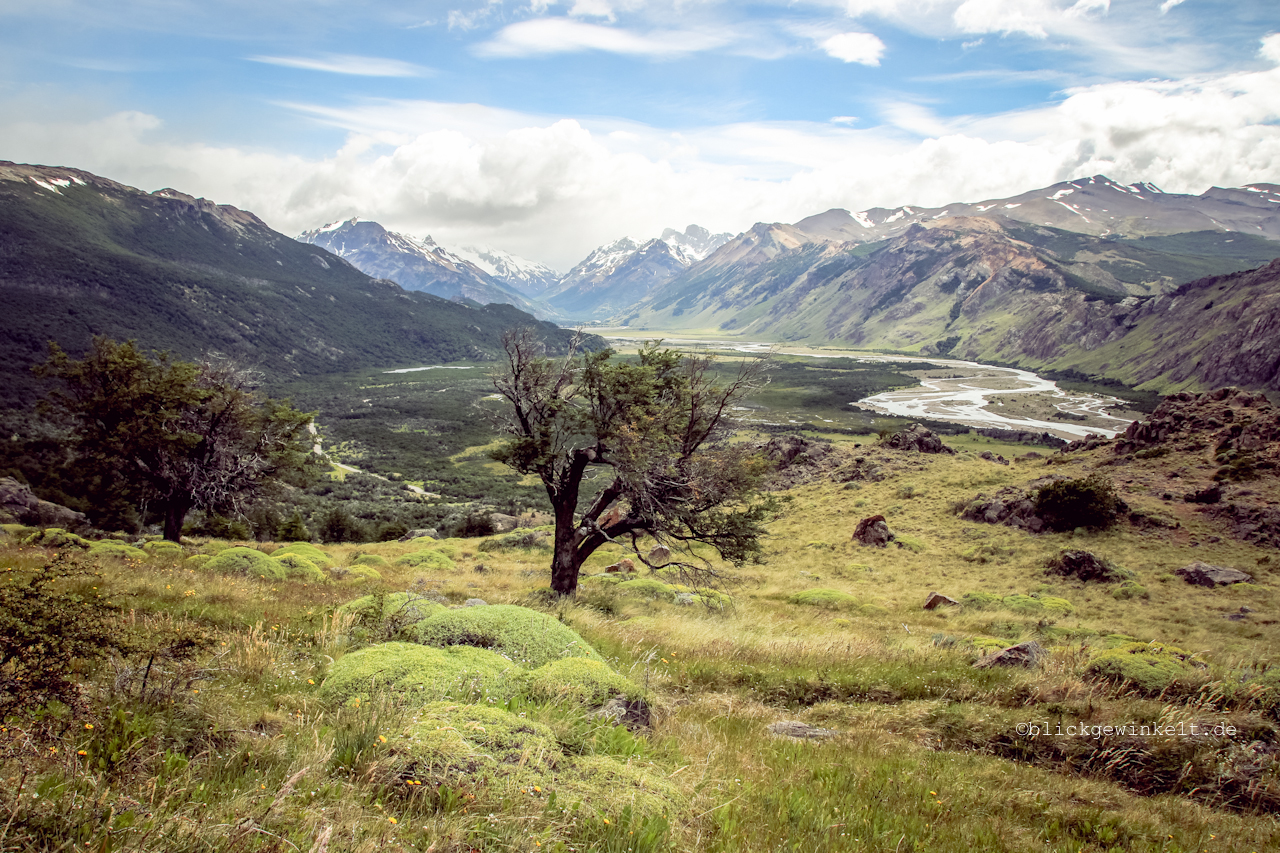 Blick ins Tal des Nationalparks Los Glaciares