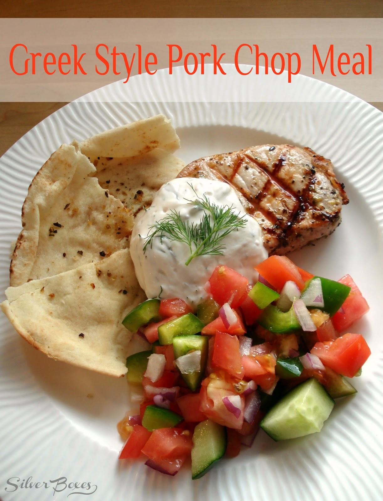Silver Boxes: Greek Style Grilled Pork Chop Meal