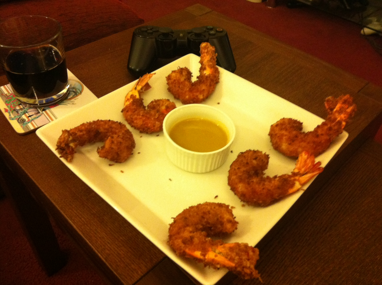 Get Stuffed!: Coconut Shrimp with Orange Mustard Dipping Sauce recipe