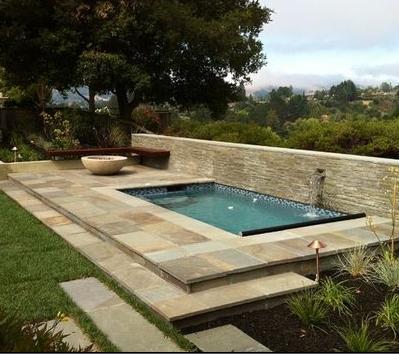 Fotos de jardin jardines de casa de una piscina - Piscina y jardin ...