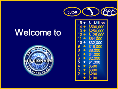 The computer lab teacher who wants to be a millionaire for Who want to be a millionaire template powerpoint with sound