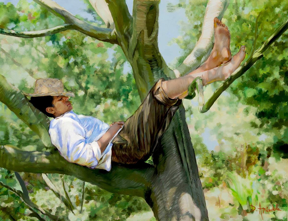 Daily Painting by Artist Dominique Amendola: The siesta ...