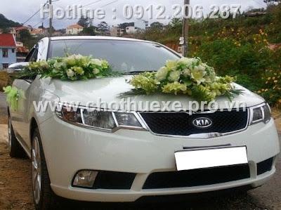 Cho thuê xe cưới KIA FORTE giá rẻ
