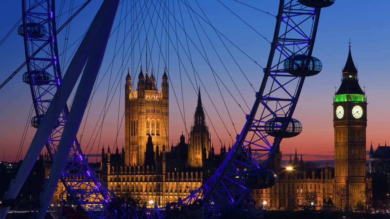 london eye, big ben, and palace of westminster, | bing wallpapers