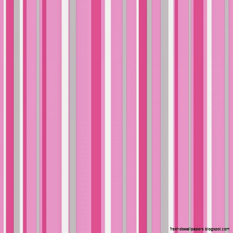 Pink And Silver Striped Wallpaper