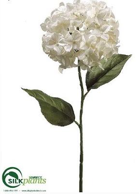 Silk Plants Direct Hydrangea Spray - Pearl