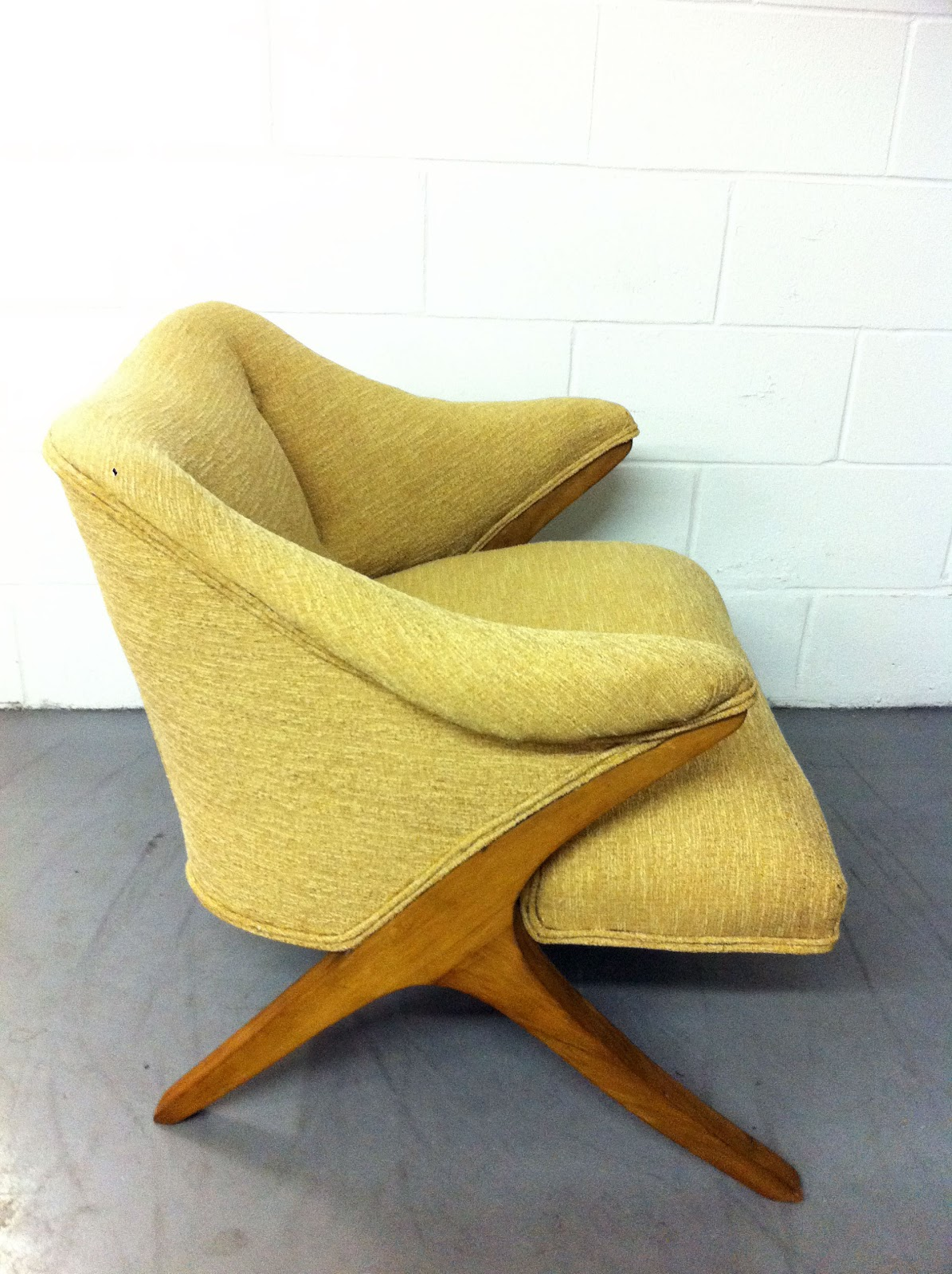 Junk2funk Mid Century Modern Yellow Arm Chair