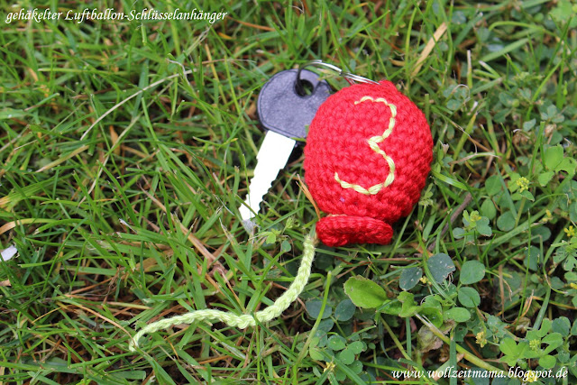 DIY : gehäkelter Luftballon als Schlüsselanhänger