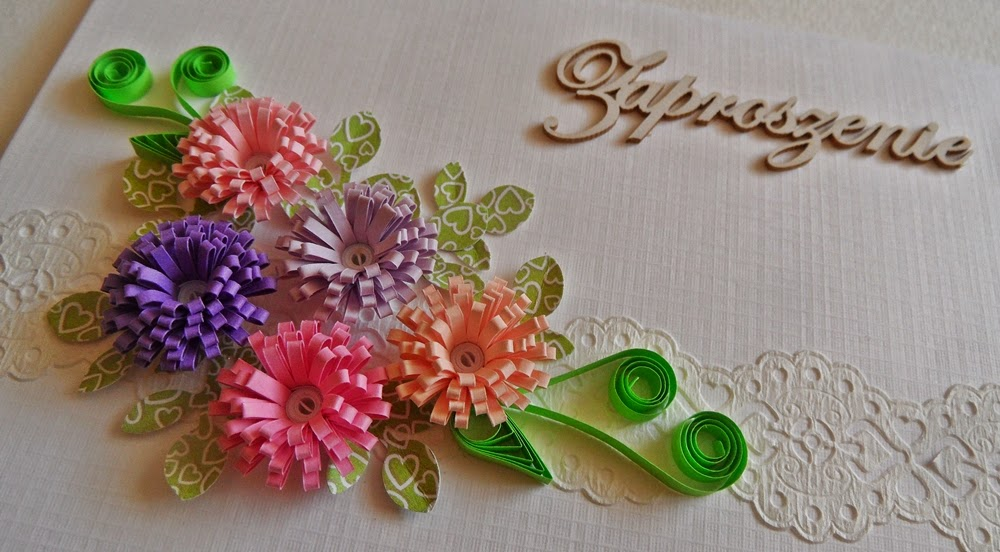 invitation quilling card