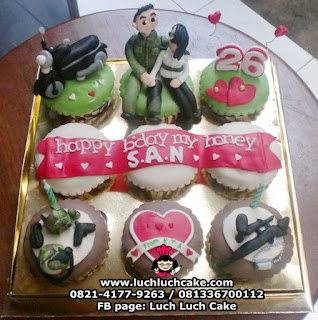 Cupcake Tema Tentara