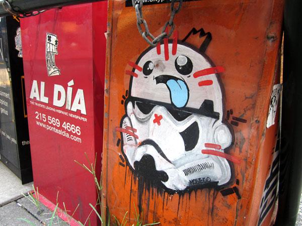 NoseGo's Storm Trooper on Walnut Street