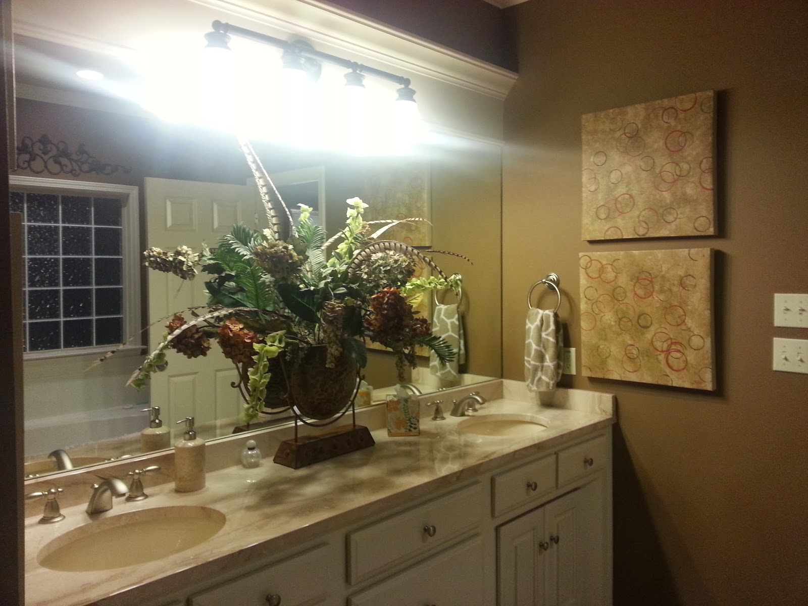 Decorating by michelle master bath redo part ii for Teva deco change decor