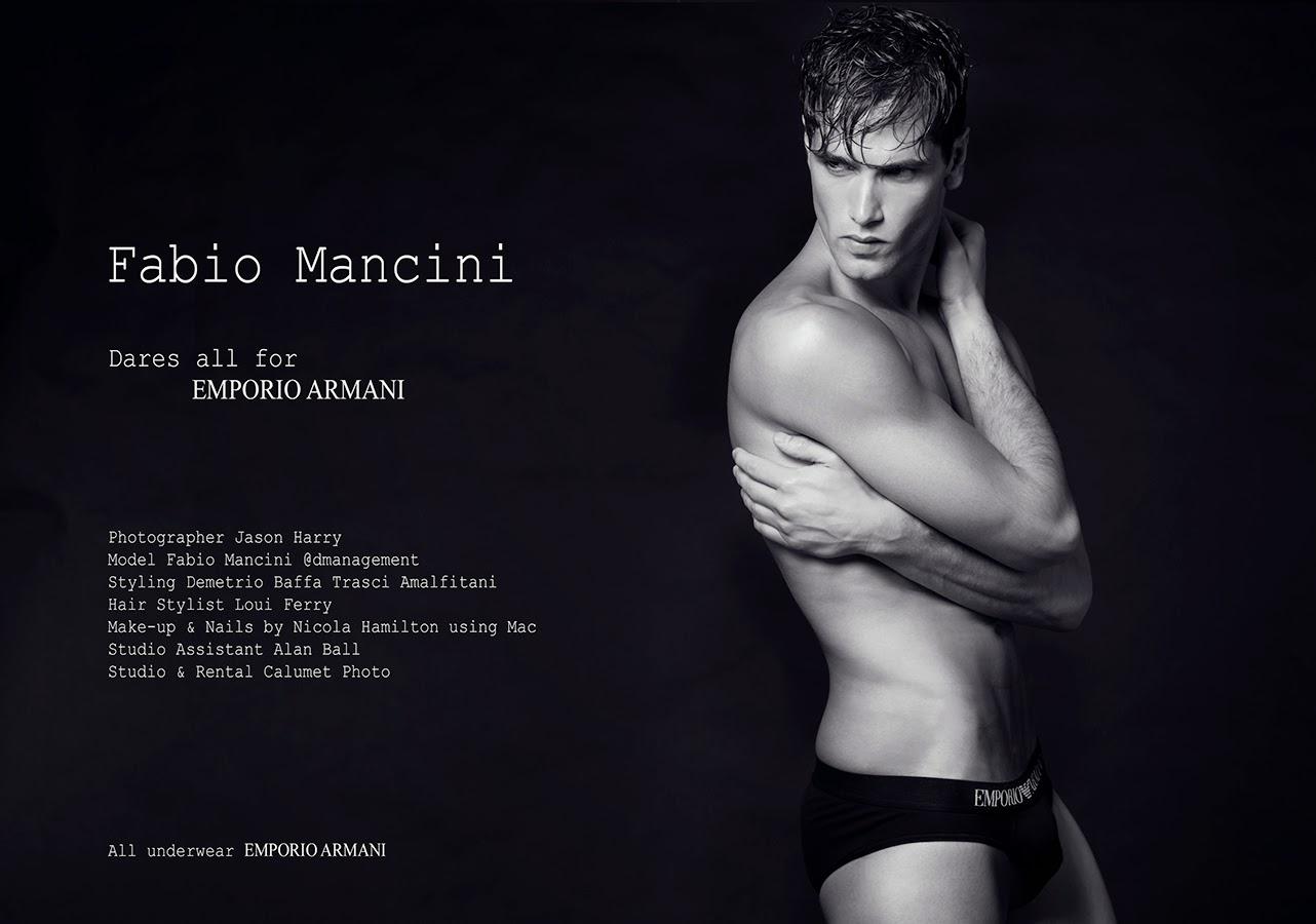 Fabio Mancini Dares All for EMPORIO ARMANI