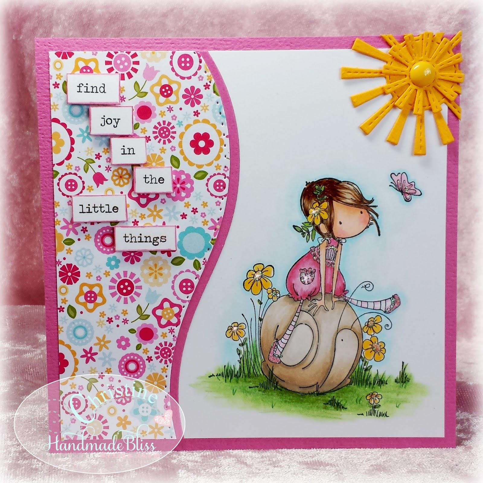 Handmade by Christine: Sally Rides Her Snail.....