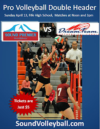 Premier Volleyball League Double Header Sunday April 13 at Fife HS