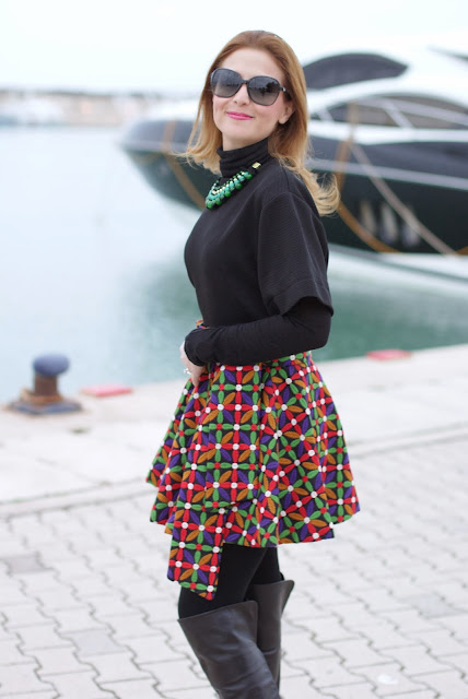 Let them stare bow skirt, Fashion and Cookies, fashion blogger