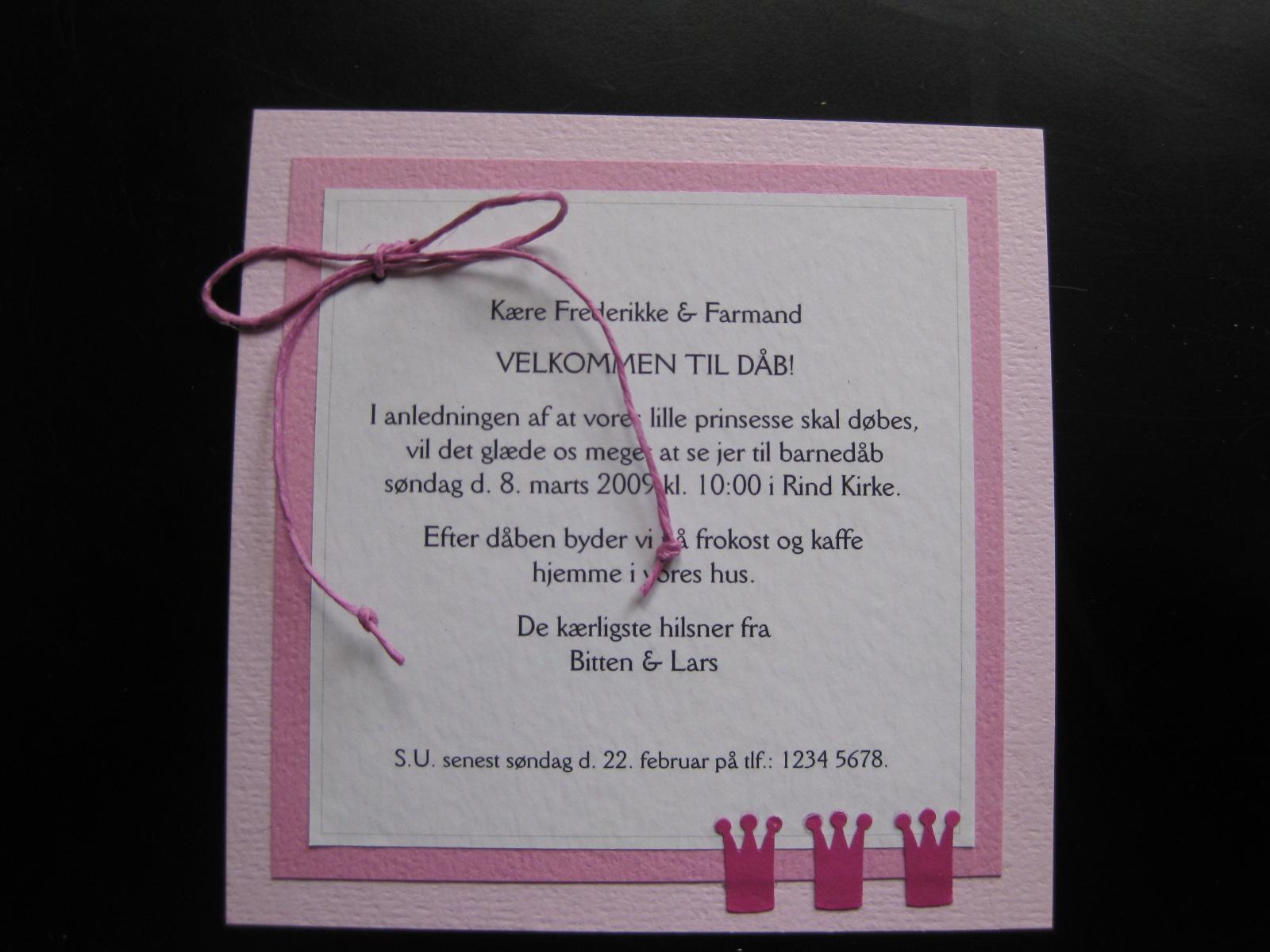 tekst dåbskort