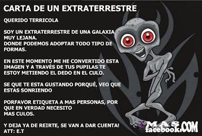 Carta de un extraterrestre