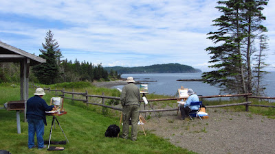 plein air painting workshops on campobello island, new brunswick