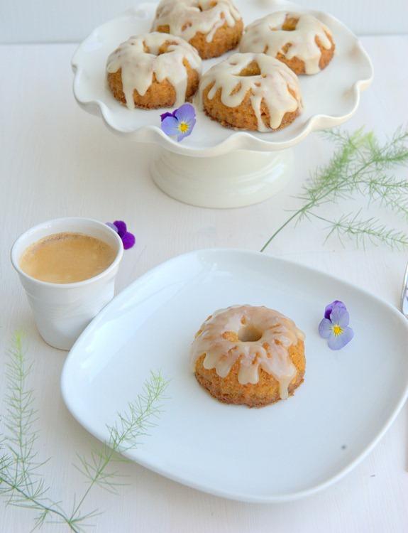 Baby Bundt Carrot Cakes with Cream Cheese Glaze (GF)