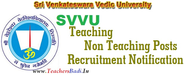 Teaching, Non-Teaching Posts,Sri Venkateswara Vedic University