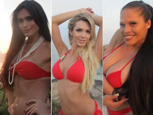 Miss T Brasil 2012: Izabely Luca, Fantiny Almeida e Bianca Soares