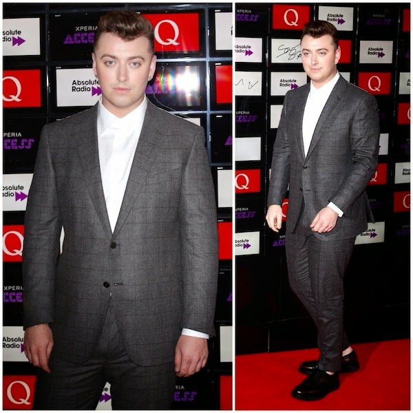SAM SMITH WEARS ERMENEGILDO ZEGNA TO XPERIA ACCESS Q AWARDS OCTOBER 2014