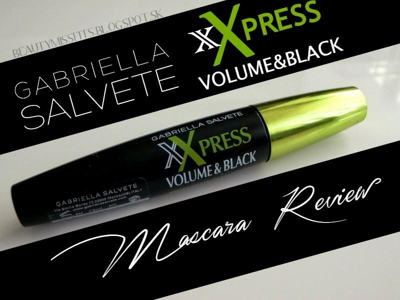 Gabriella Salvete - xXpress Volume & Black maskara (recenzia)