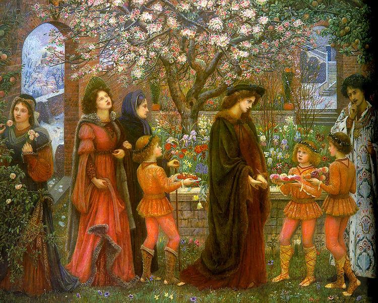 marie spartali stillman enchanted garden