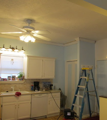 Crown Molding added to, Too Cute of a Kitchen