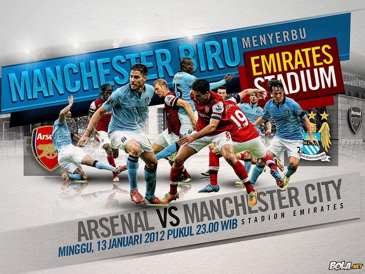 Arsenal vs Manchester City - 13 Januari 2013