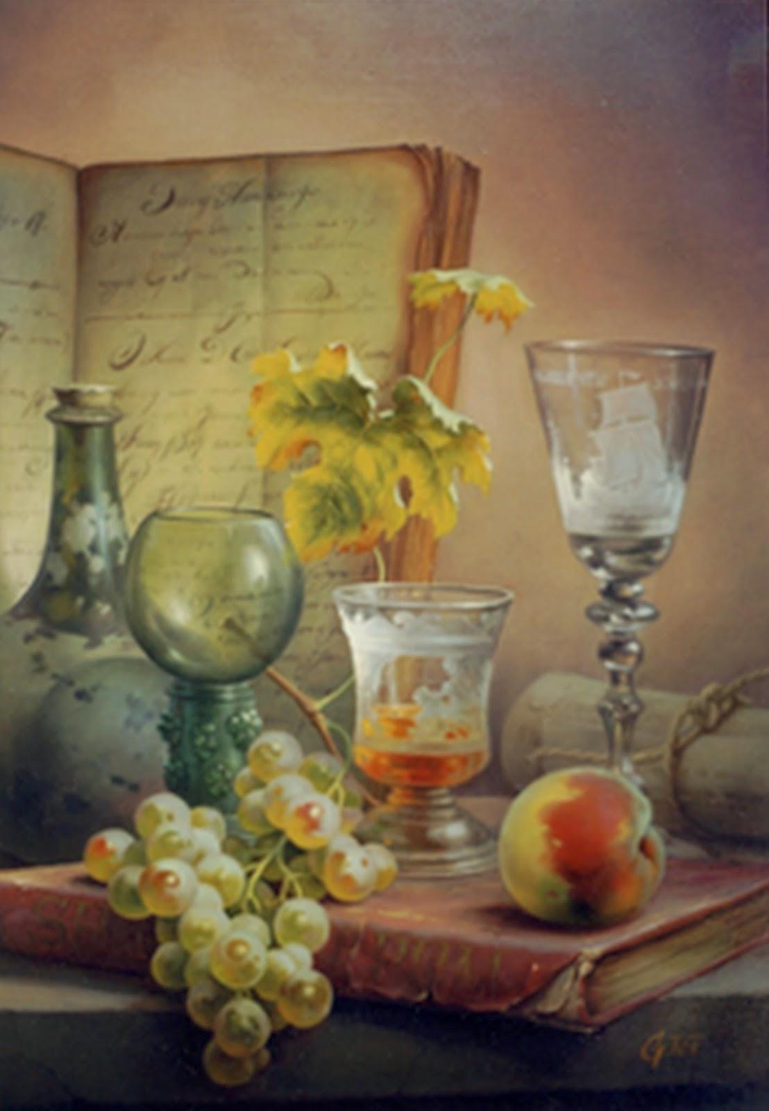 imagenes-bodegones-clasicos-de-frutas-al-oleo