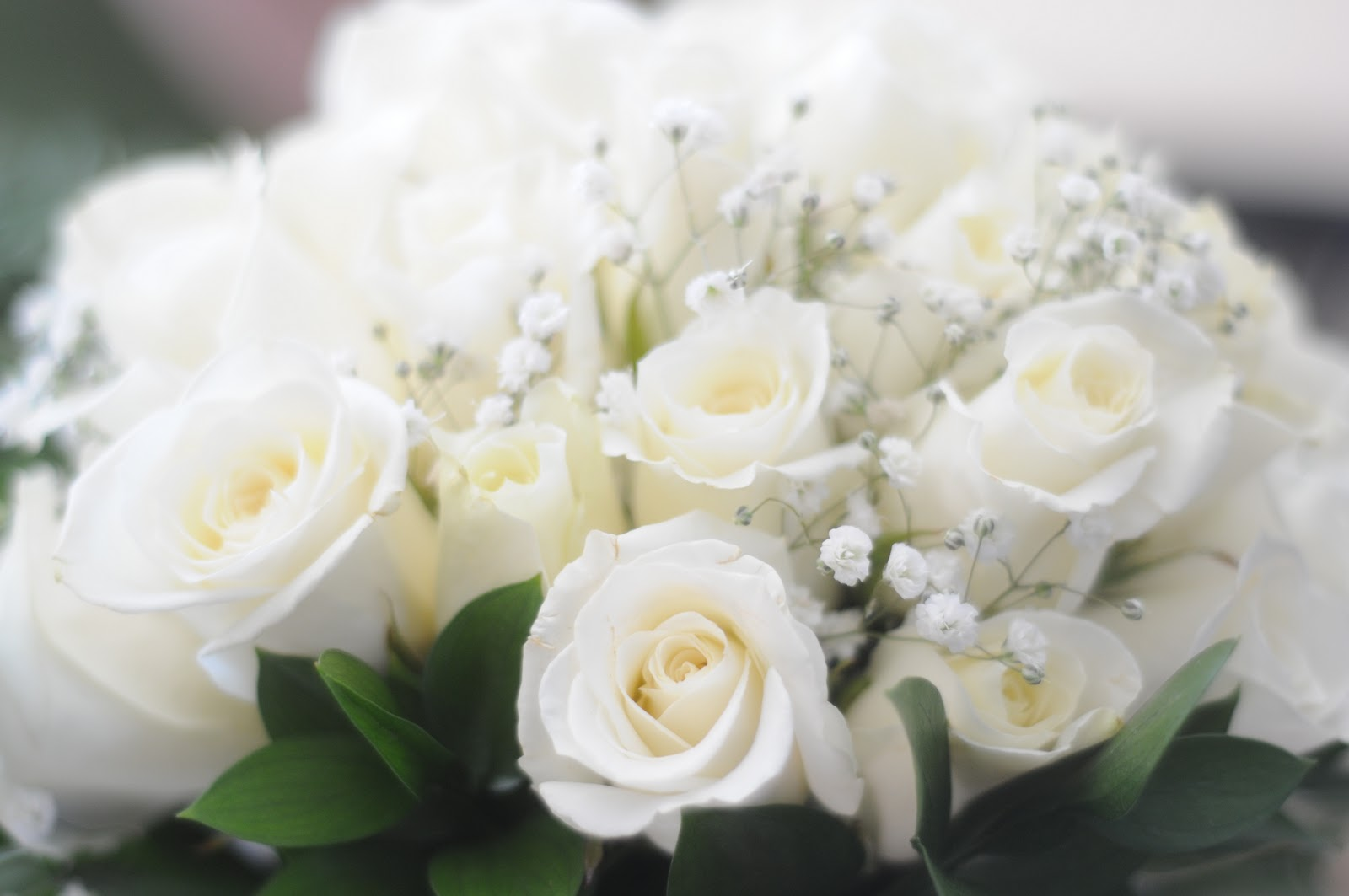 forever88: white rose bridal bouquets...
