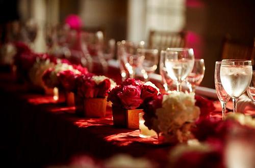 red wedding centerpieces