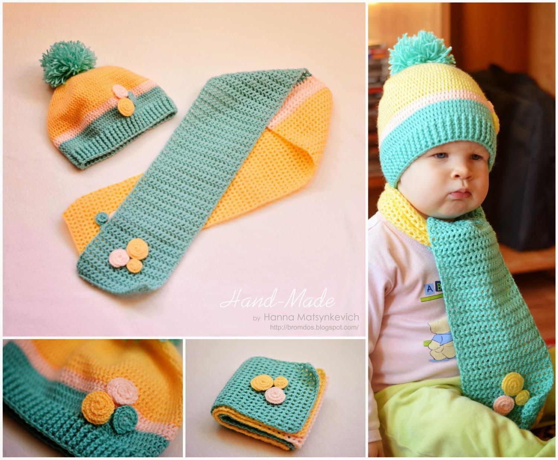 Вязание детских шарфиков 19