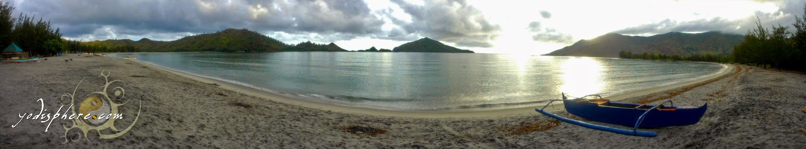 Panorama Shot of Silanguin Cove in Zambales before sunset