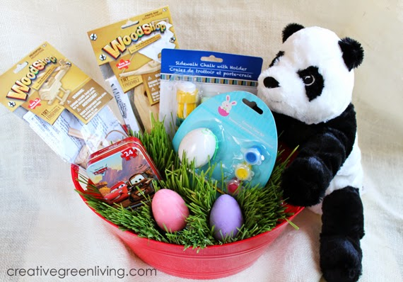 Affordable candy free easter basket ideas creative green living for a 3 or 4 year old boy get started negle Image collections