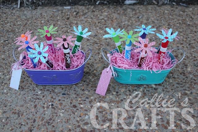 dry erase marker flower craft