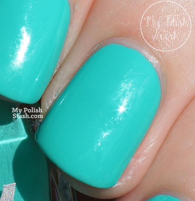 turquoise creme nail polish