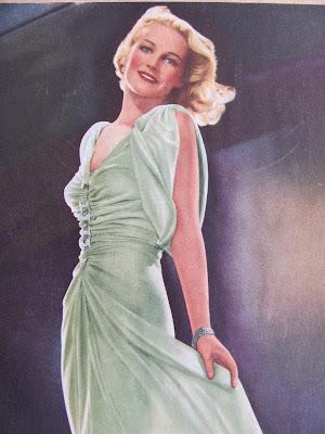 1930's evening dress, green