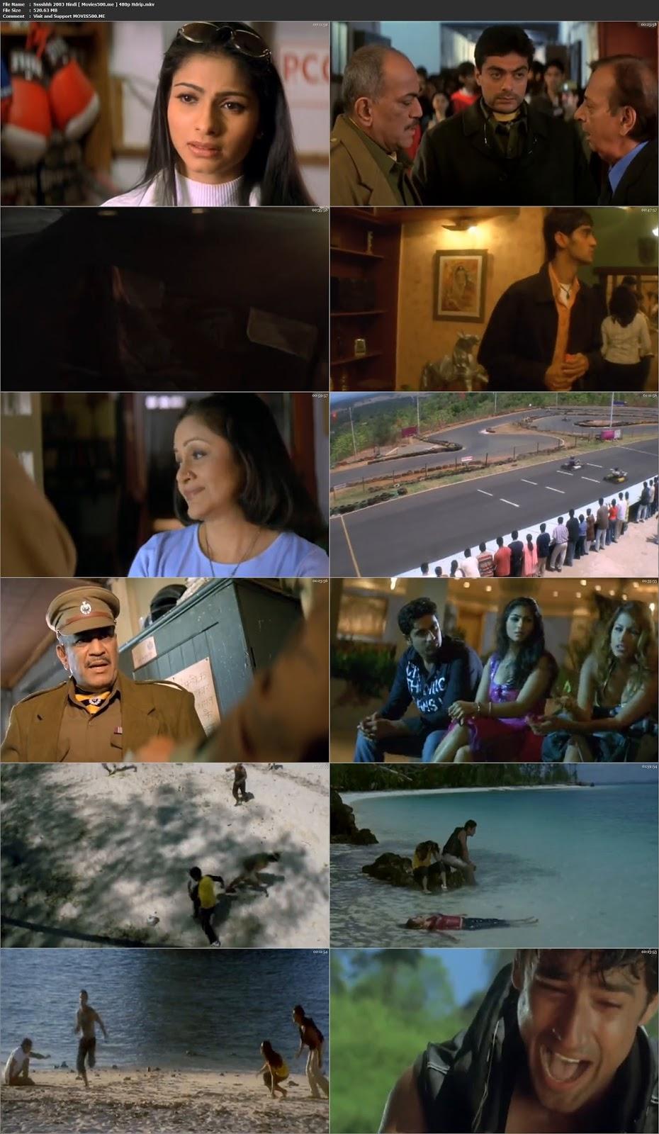 Sssshhh 2003 Bollywood 500MB HDrip 480p at gencoalumni.info