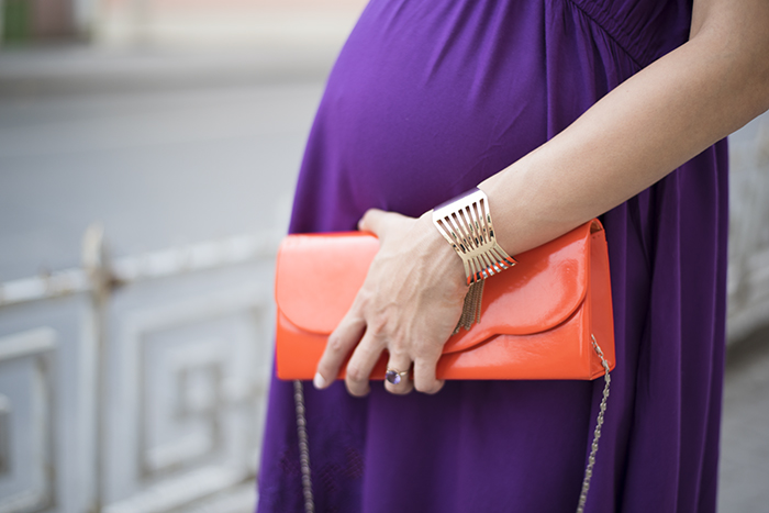 Skinny Buddha Zara purple dress maternity