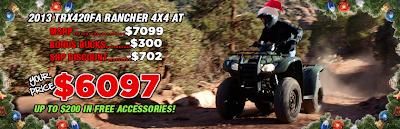2013 TRX420FA RANCHER. SOUTHERN HONDA POWERSPORTS. CHATTANOOGA TN.