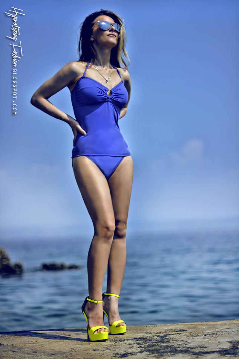 tankini na plaże zakrywające brzuszek